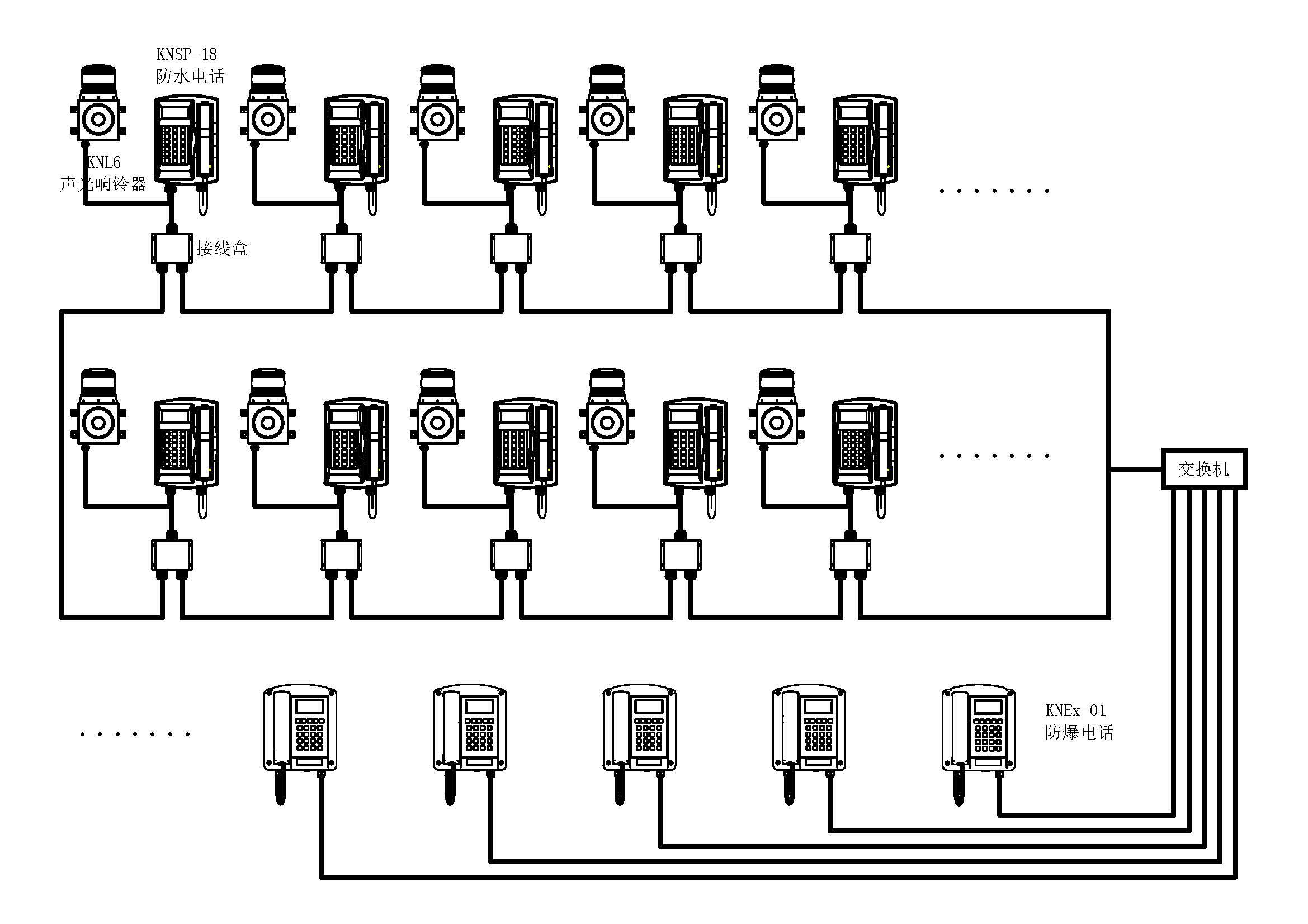 knpa5无主机呼叫系统接线图