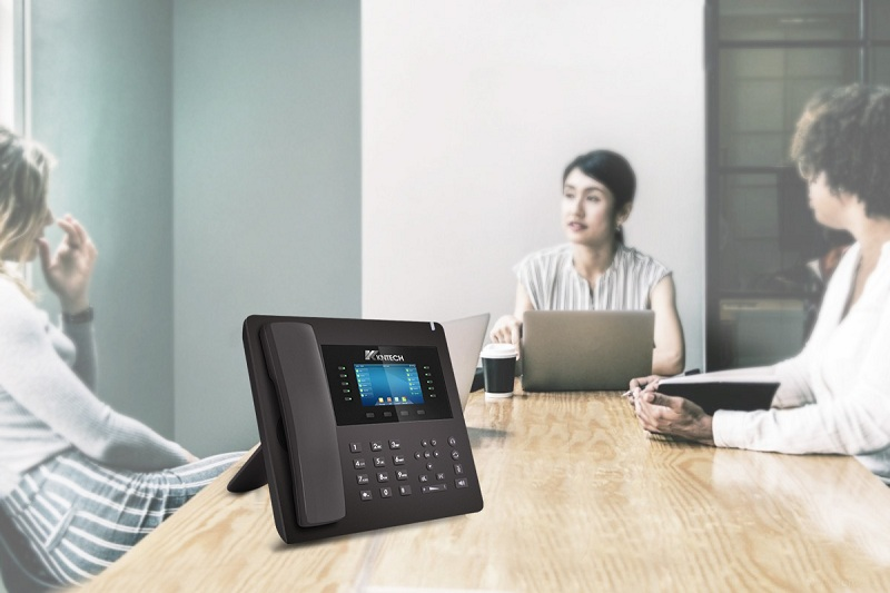 the ip phone in office desk