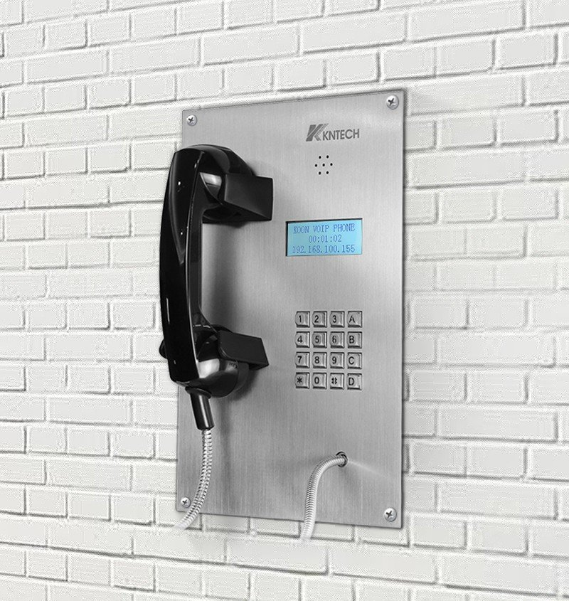 stainless steel telephone mounted wall