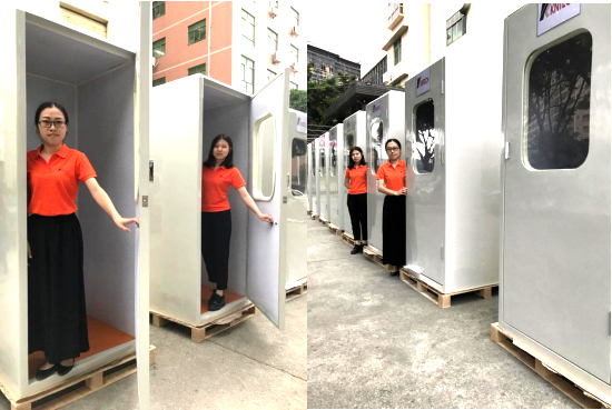 Large QTY telephone booth shipped to overseas
