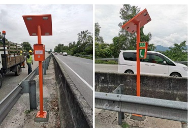 KNTECH GSM emergency telephone system installed along the longest expressway in Malaysia-North South Road